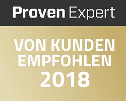 Proven Expert Auszeichnung 2018