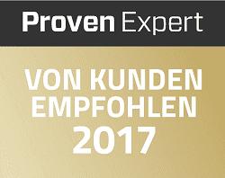 Proven Expert Auszeichnung 2017